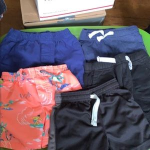 4 shorts 1 swim trunk size 18 months.